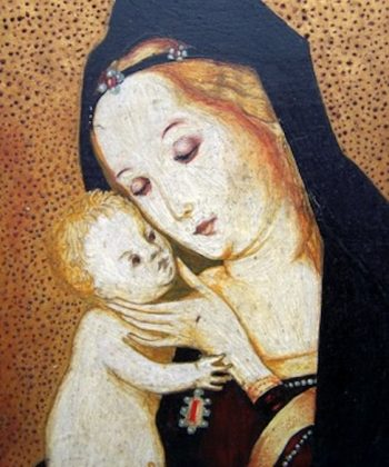 Madonna-oil-on-panel-detail